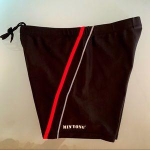 Min Yong Swim - Men's Black Sports Trunk (Medium)